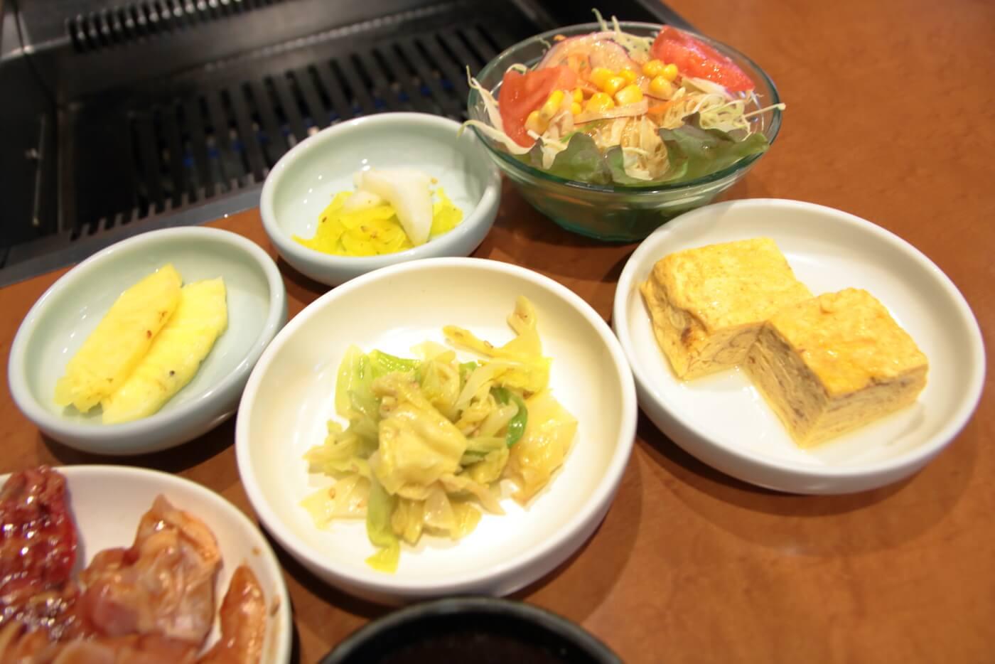 天下味桟橋店の焼肉ランチ 副菜
