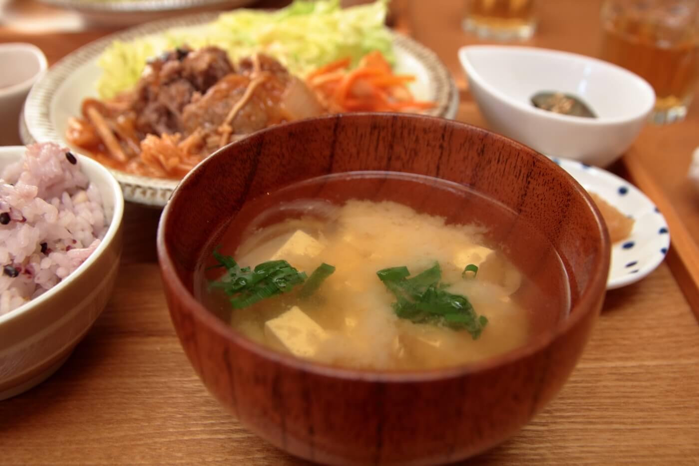 MIO CAFE ランチの味噌汁