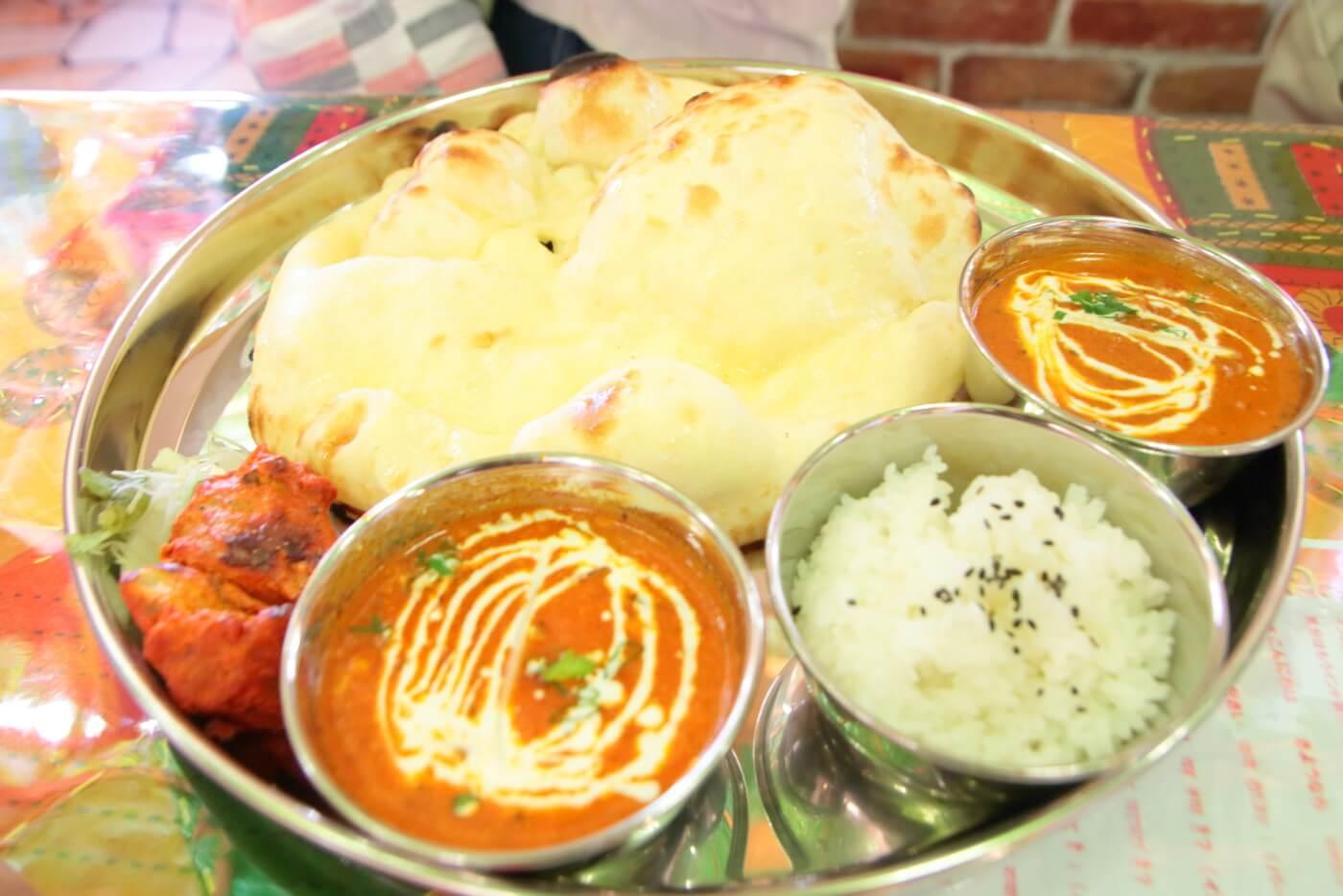 インド料理 スビマハル 2種類のカレーセット