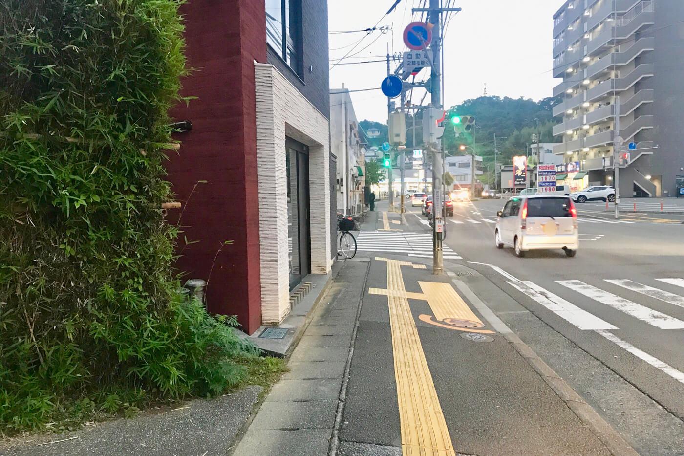 麺屋なかひら 高知市福井町のオープン予定地とその東側