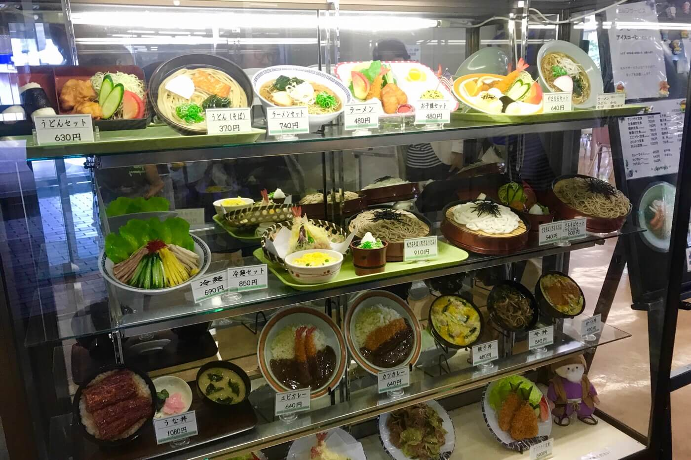 高知医科大学の食堂やまもも 入口の食品サンプル