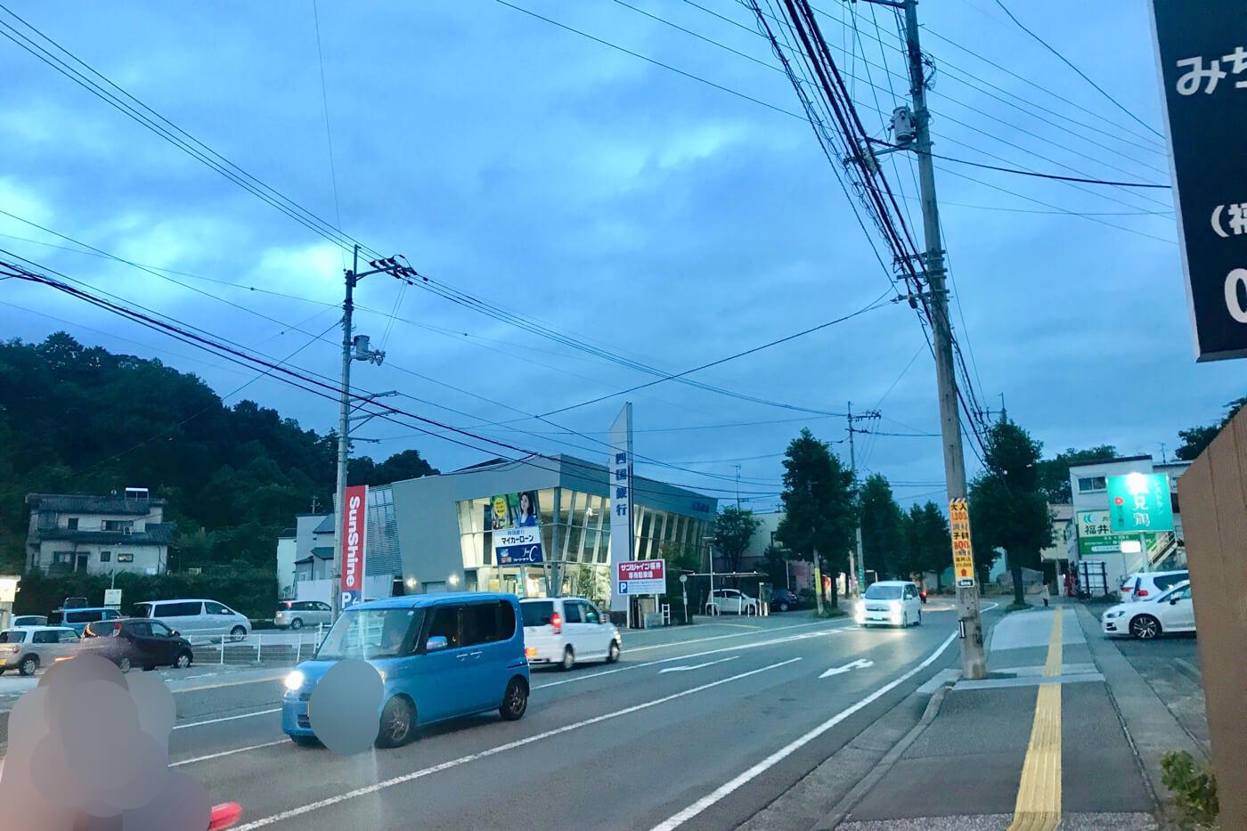麺屋なかひら 高知市福井町のオープン予定地から西側を見た風景
