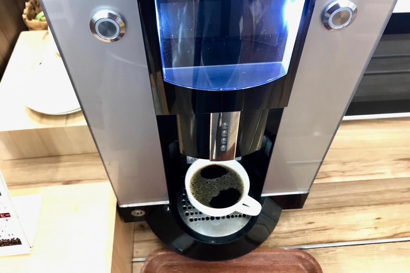 地のもん市場 ハレタ 食堂のコーヒーメーカー