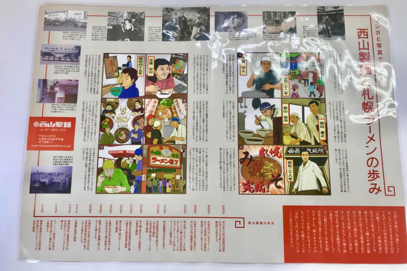 高知大丸 秋の北海道物産展2019 西山ラーメンの歴史解説
