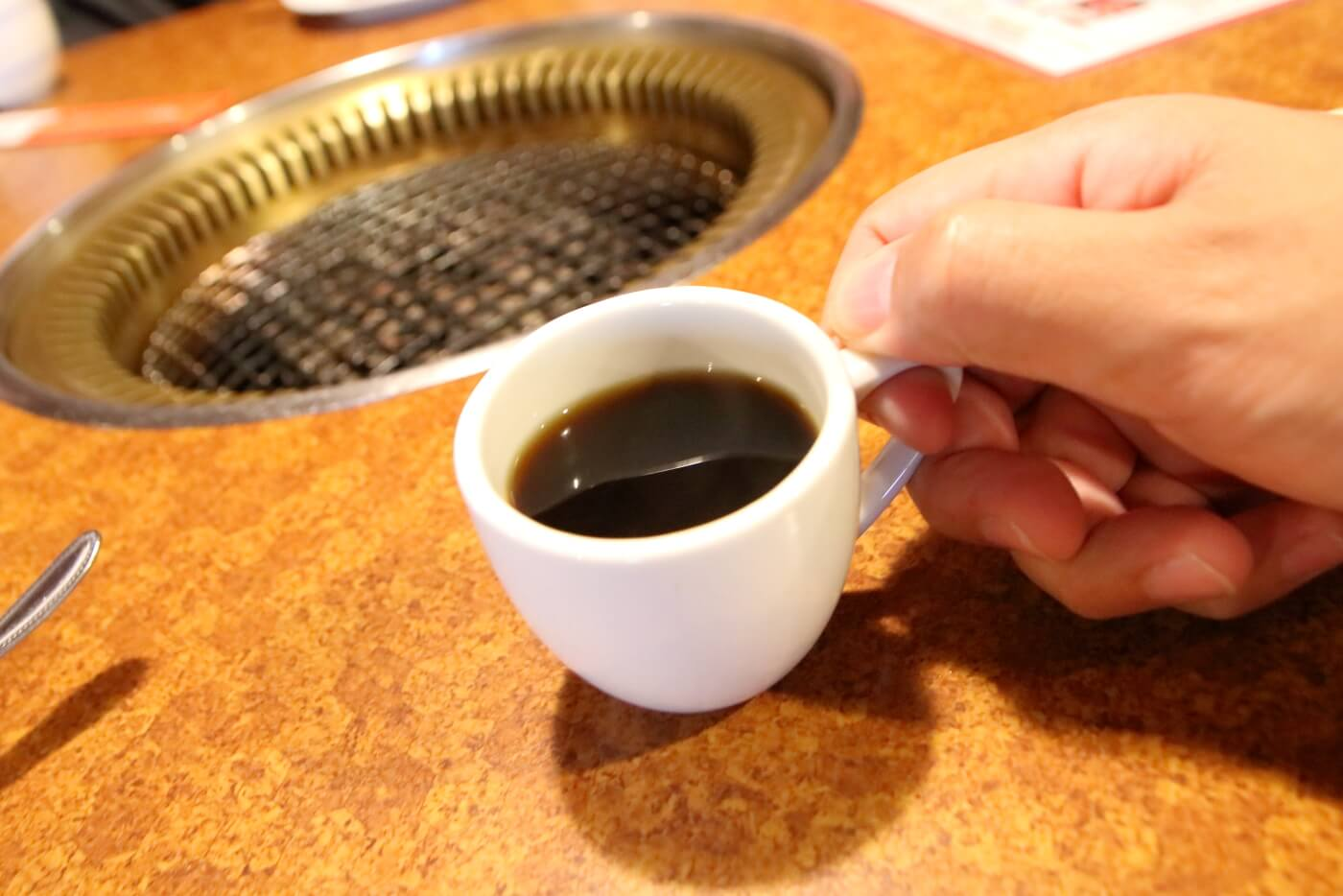 焼肉菜館 大五郎 食後のコーヒー