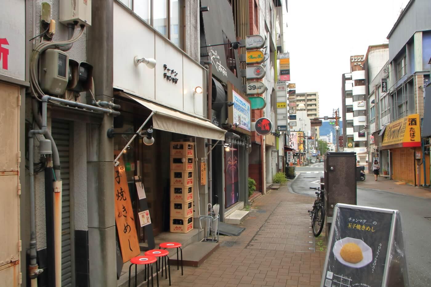 高知市のラーメン店チョンマゲの外観