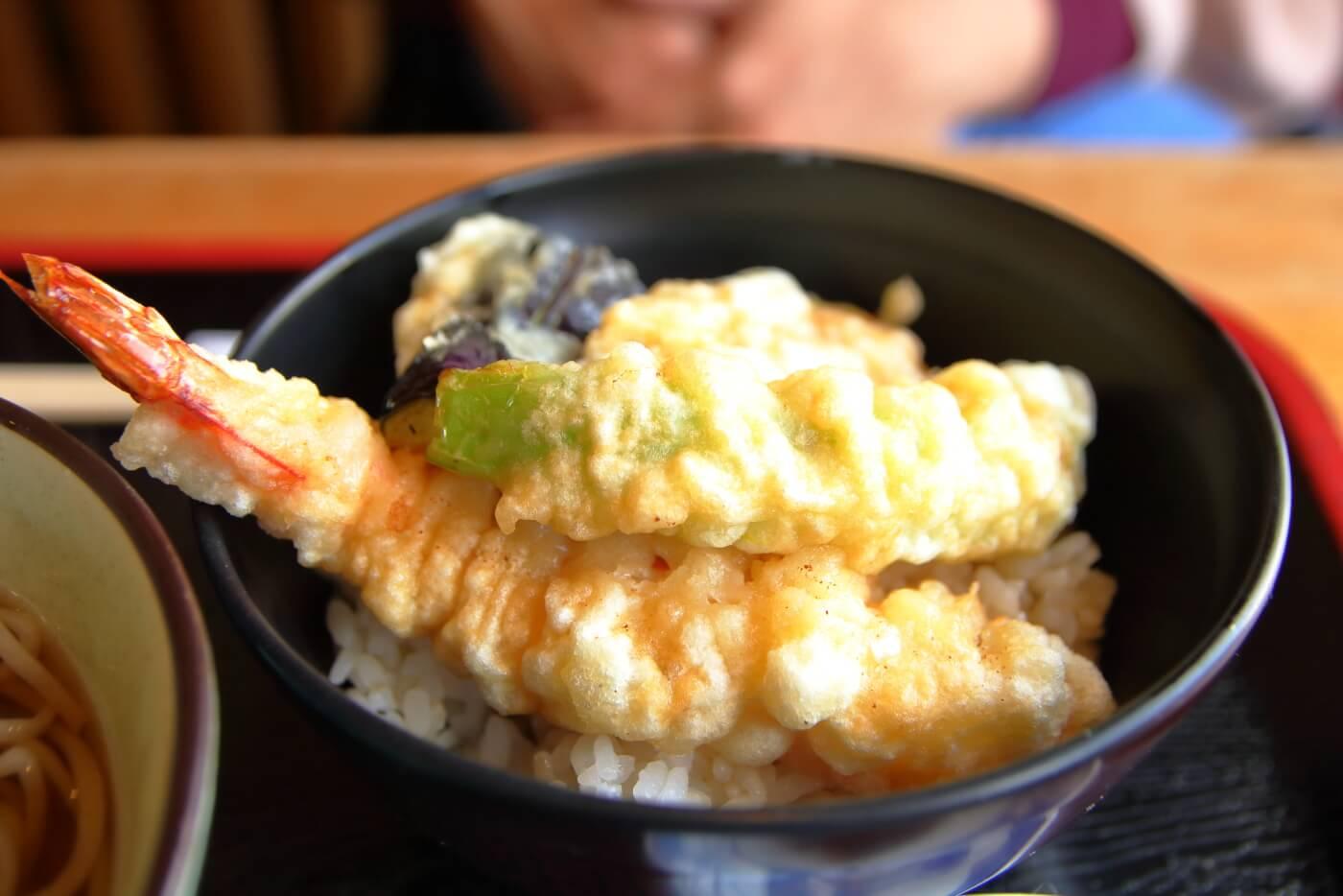 福杜(ふくのもり)ランチのミニ天丼セット