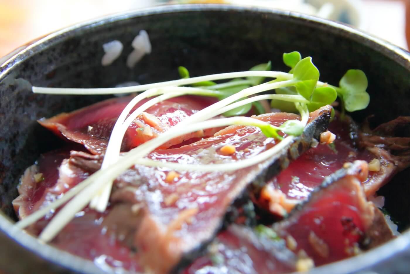 平家の茶屋 カツオの漬け丼