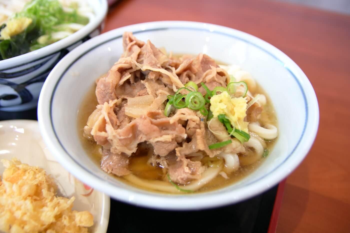 こがね製麺所 高知一宮店 肉ぶっかけうどん
