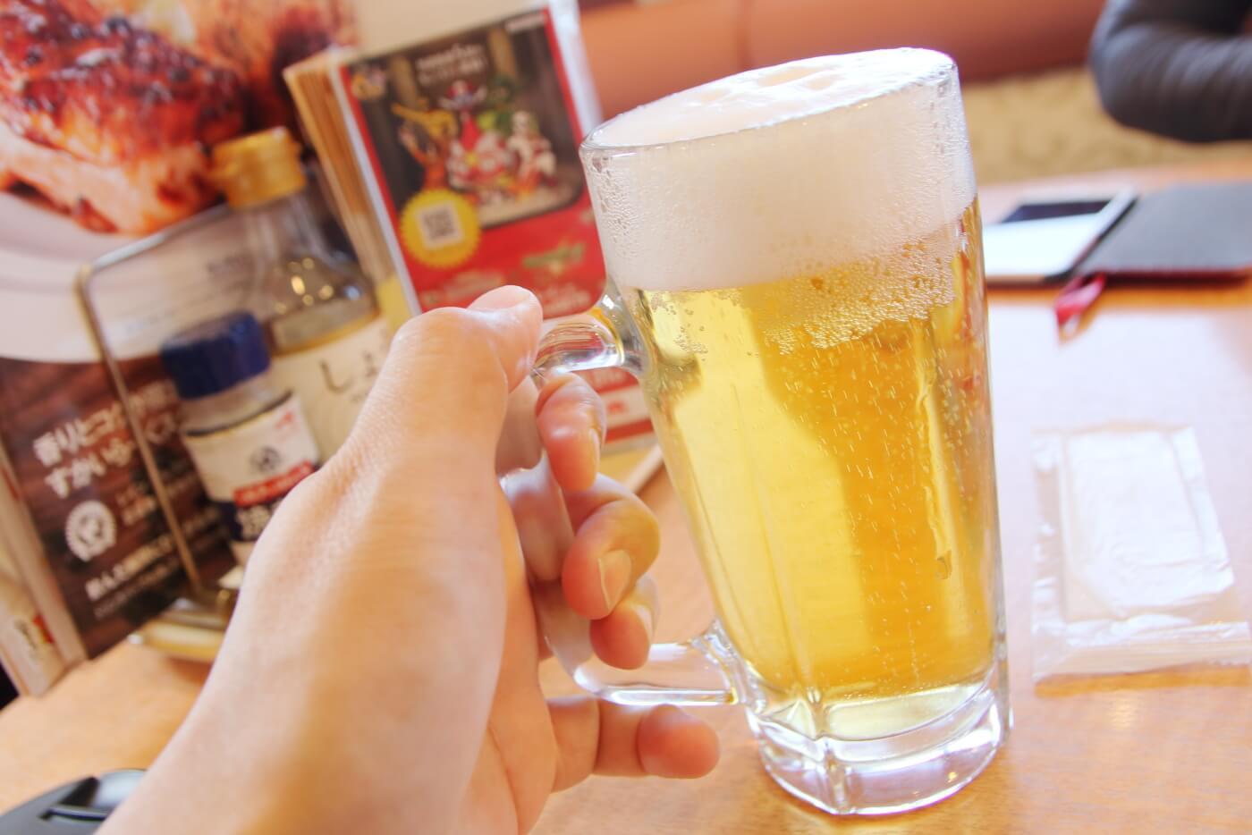 ガストの生ビール