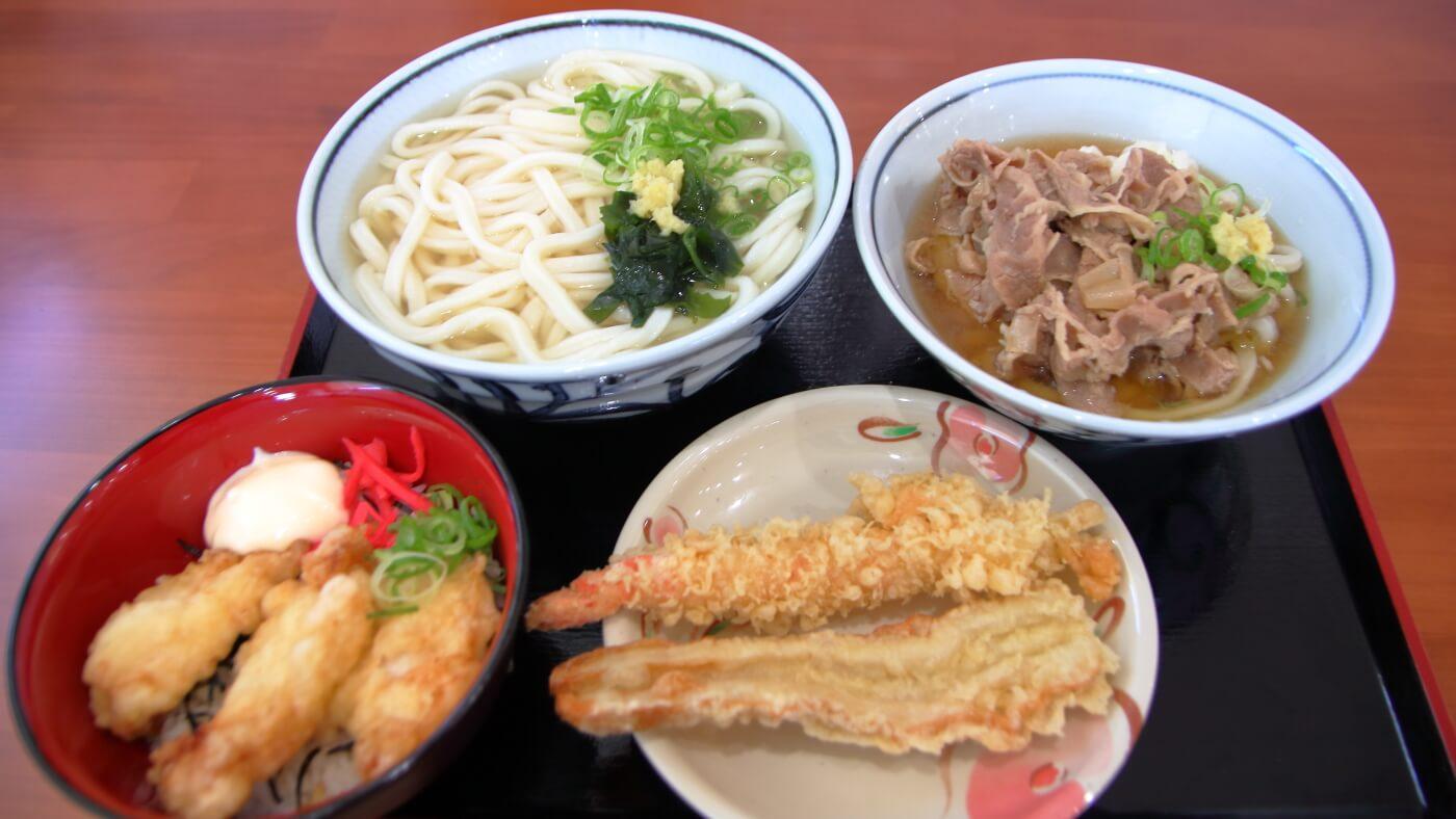 こがね製麺所 高知一宮店 うどん とり天丼