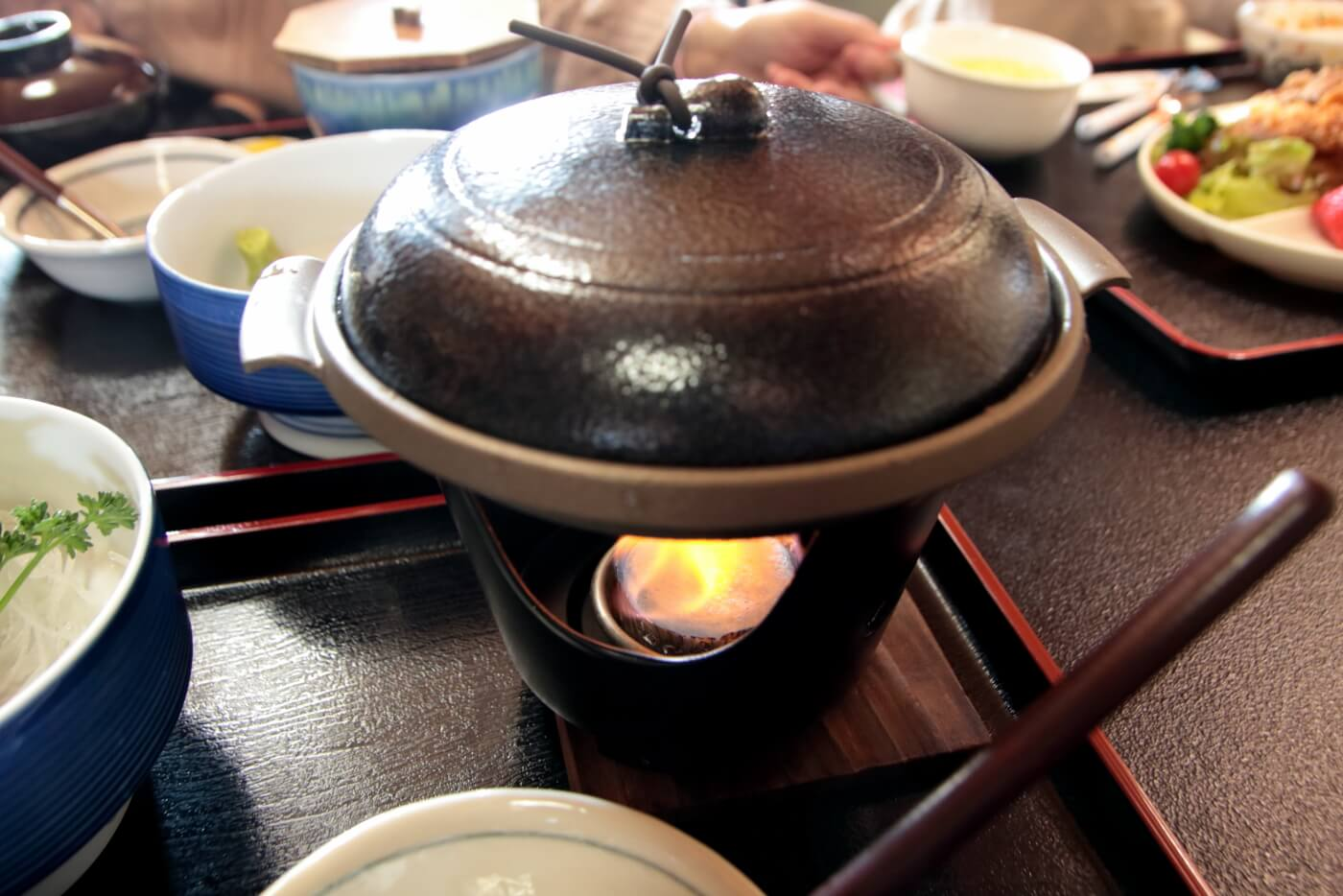 高知室戸市の料亭花月のサバすき(サバのすき焼き)