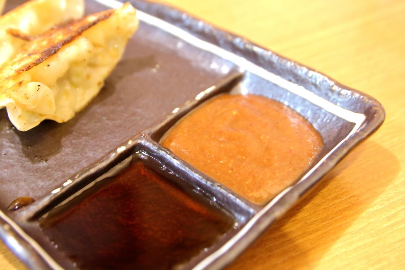 麺屋・國丸。南国店 焼餃子の味噌ダレ