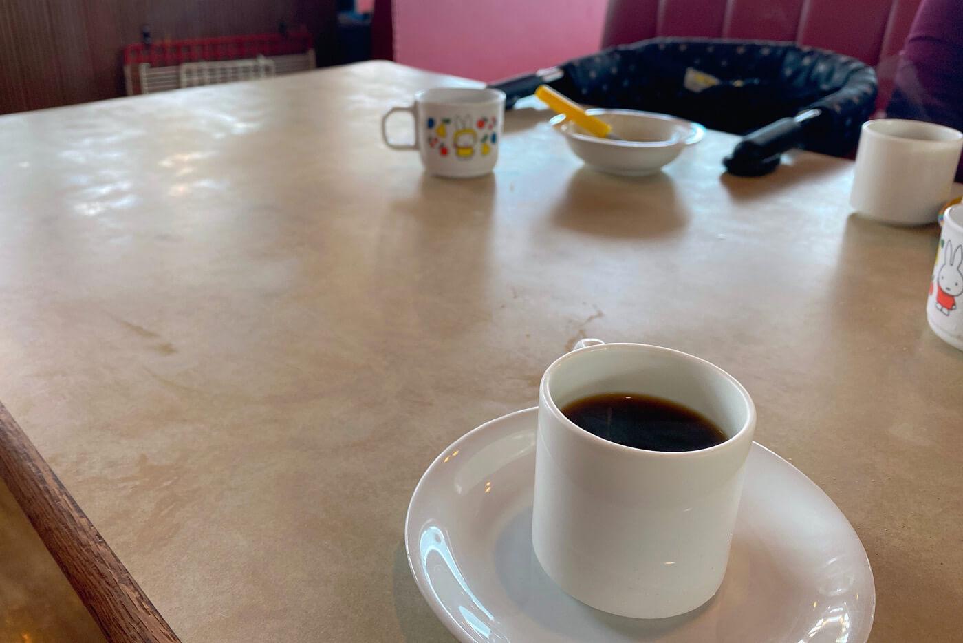 やぽんすき ランチ食後のコーヒー