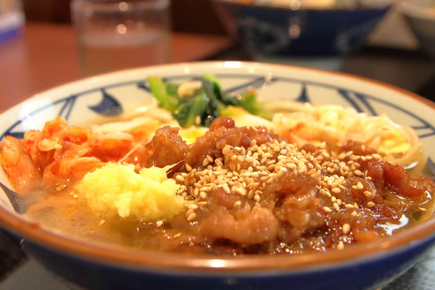 丸亀製麺 牛焼肉冷麺