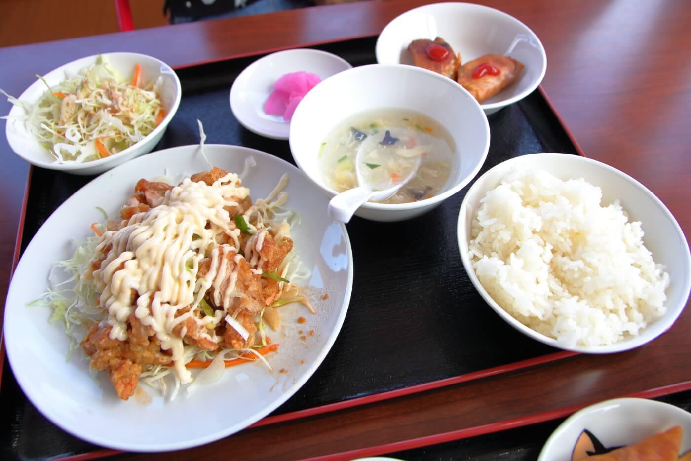 台湾料理 豊源野市店 油淋鶏ランチ