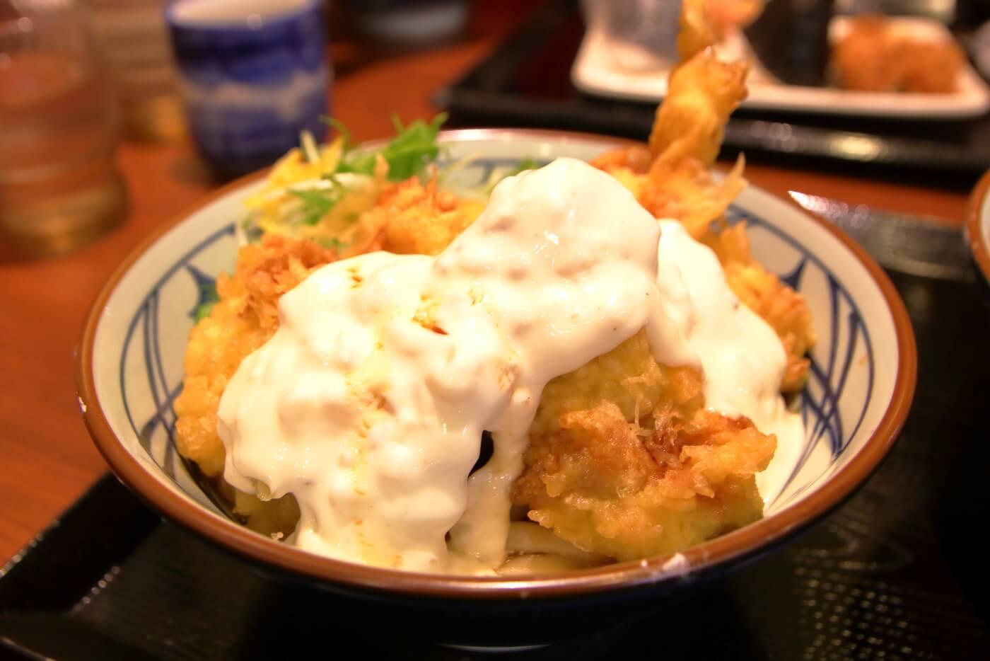 丸亀製麺 タル鶏天ぶっかけ