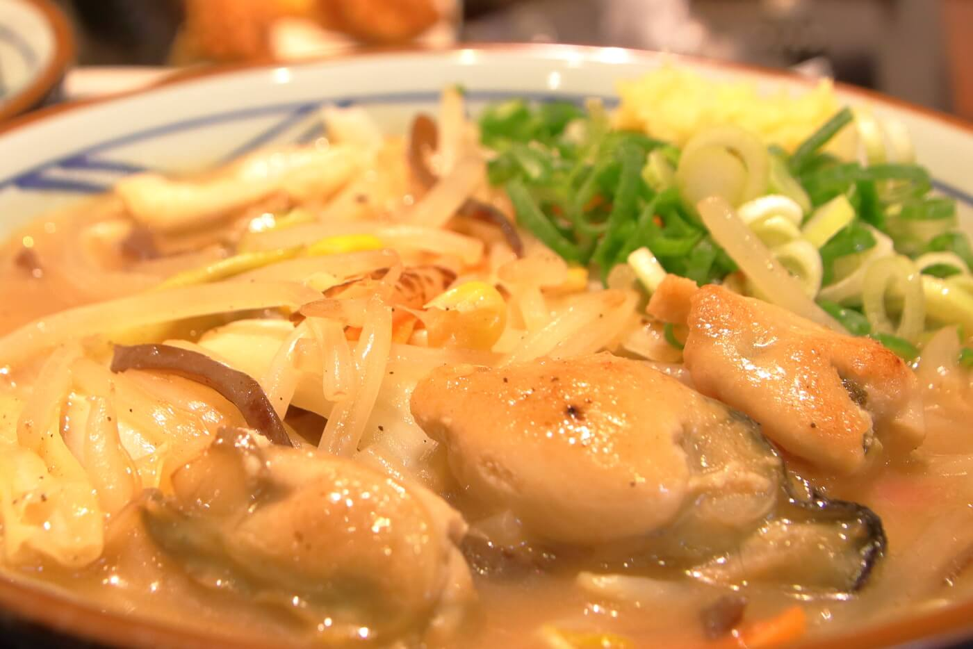 丸亀製麺 牡蠣ちゃんぽん