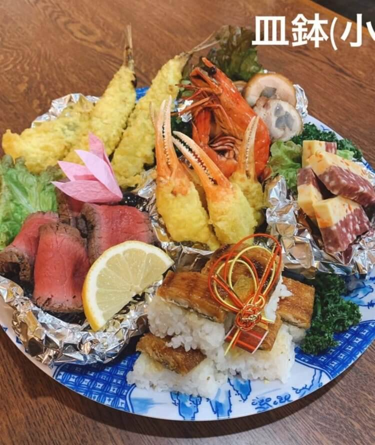 高知香南市野市町 まんぷく亭の皿鉢(さわち)
