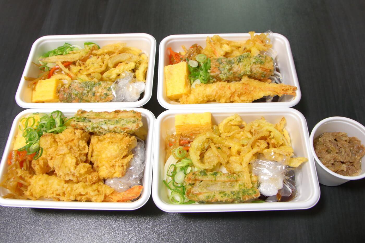 丸亀製麺 うどん弁当 4種類